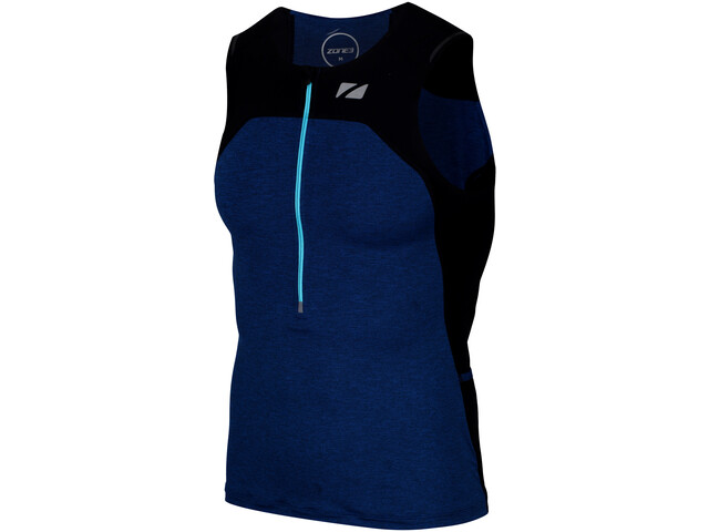 Zone3 Performance Culture Débardeur de triathlon Homme, marl navy/black/grey